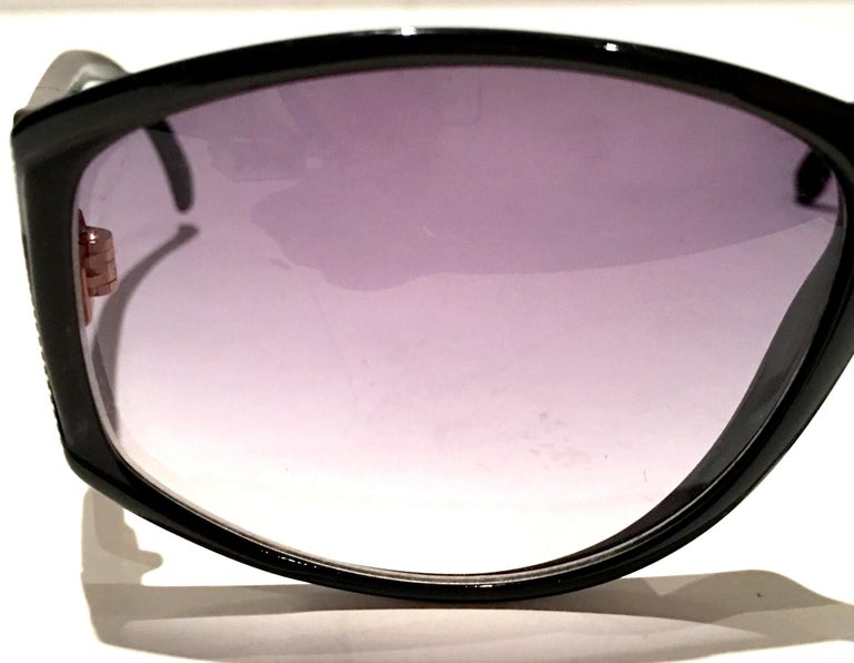 1980'S French Black & Gold Sunglasses By, Jacques Fath For Sale 3