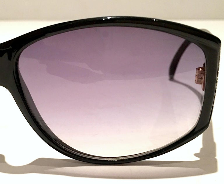 1980'S French Black & Gold Sunglasses By, Jacques Fath For Sale 4