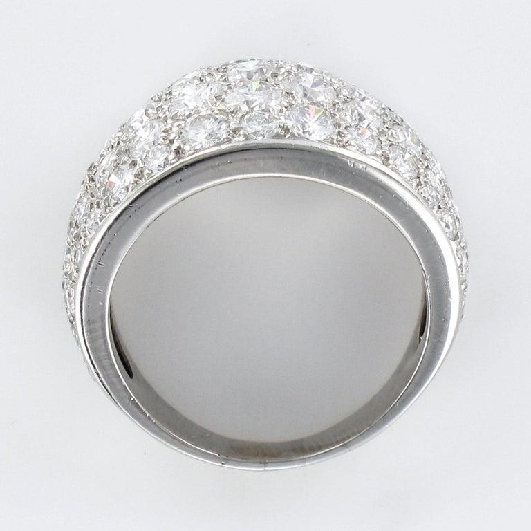 1980s French Modern 1.20 Carat Diamonds Platinum Bangle Ring For Sale 5