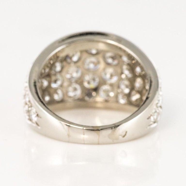 1980s French Modern 1.20 Carat Diamonds Platinum Bangle Ring For Sale 7