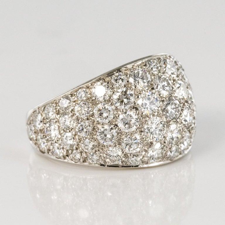 1980s French Modern 1.20 Carat Diamonds Platinum Bangle Ring For Sale 8