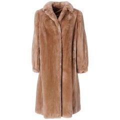1980s G. Balzani Beige Beaver Fur Coat