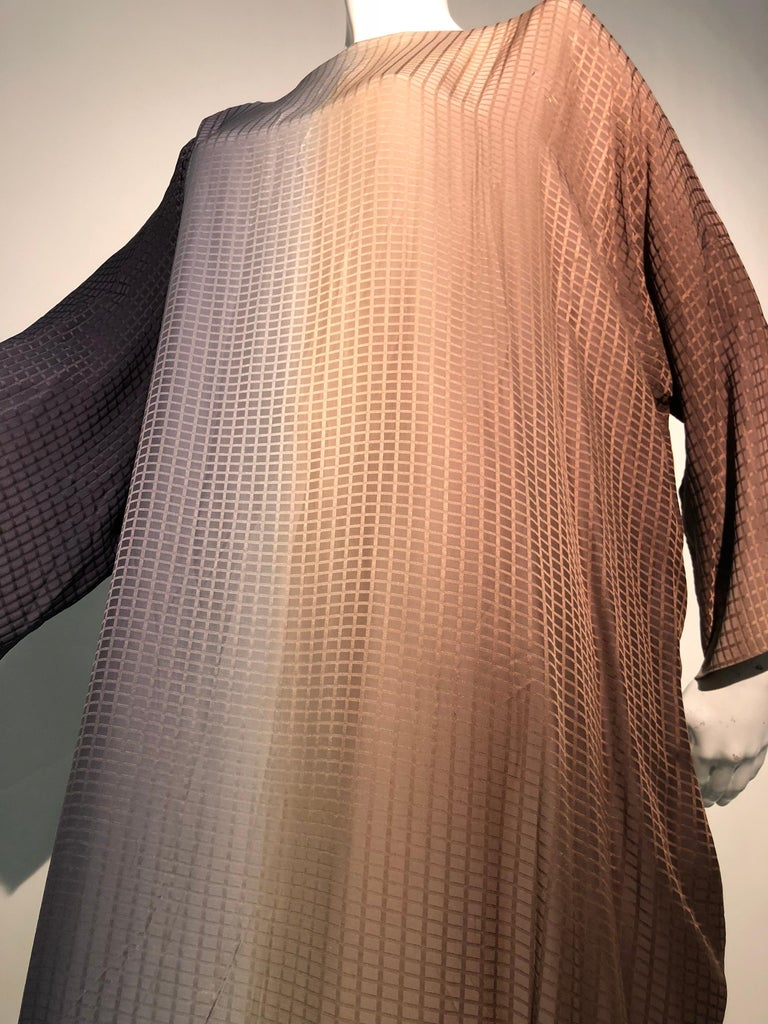 1980s Geoffrey Beene Gray & Sienna Ombré Caftan Embellished By Torso Creations For Sale 7