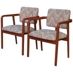 1980s George Nelson Nº4663 Desk Chairs Herman Miller Modern in Earth Tone Static