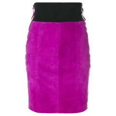 1980s Gianfranco Ferré Fuchsia Straight Skirt