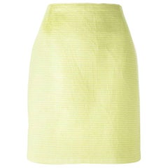 1980s Gianfranco Ferrè Lime Tube Skirt