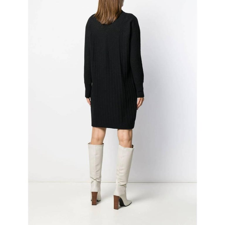 Women's 1980s Gianni Versace Black Knitted Dress