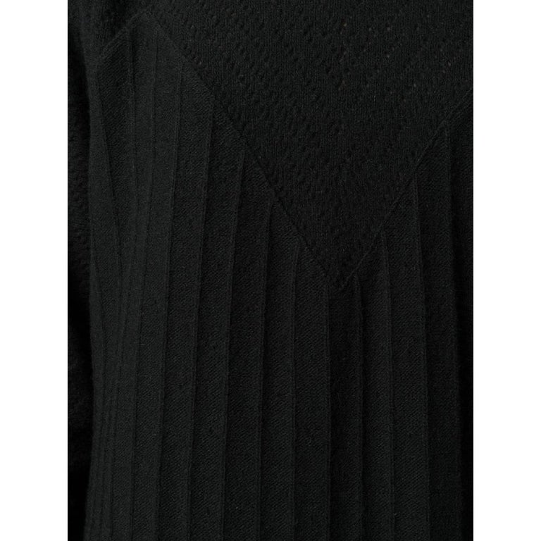 1980s Gianni Versace Black Knitted Dress 1