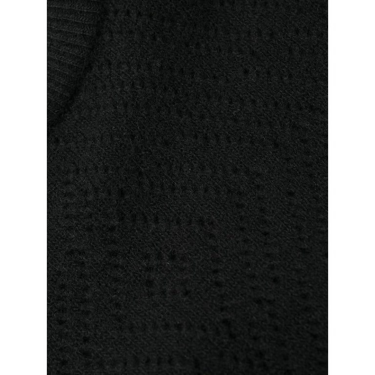 1980s Gianni Versace Black Knitted Dress 2