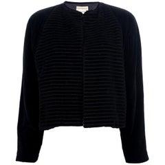 1980s Gianni Versace Black Velvet Blazer