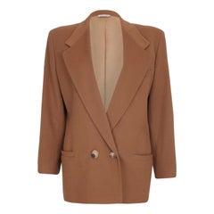 1980s Gianni Versace Camel Wool Boyfriend Jacket