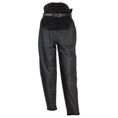 1980's Gianni Versace Leather Pants Big Belt XS/S