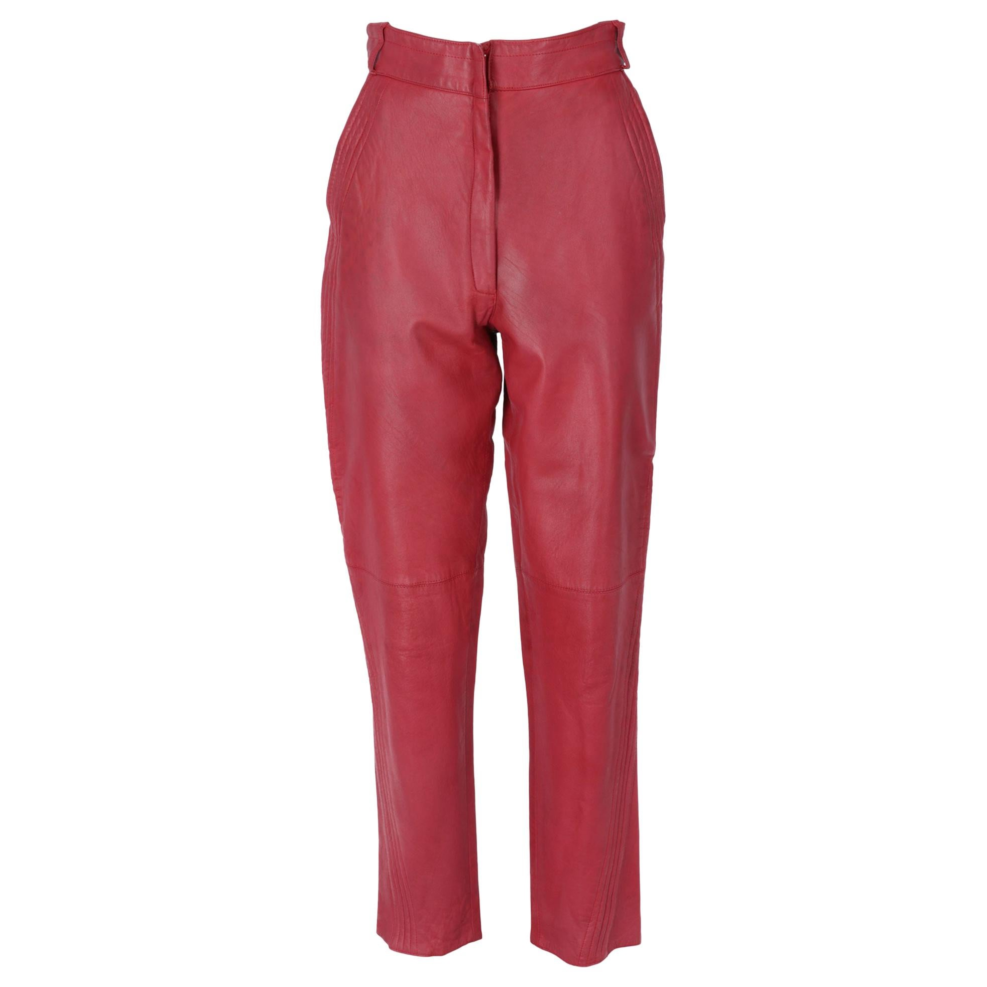 1980s Gianni Versace Leather Trousers
