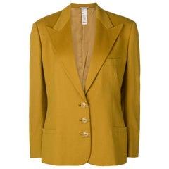 1980s Gianni Versace Mustard Wool Jacket