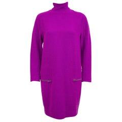 1980s Gianni Versace Purple Boiled Wool Tunic Dress