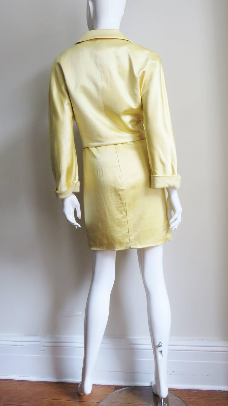 Gianni Versace Silk Dress and Jacket For Sale 9
