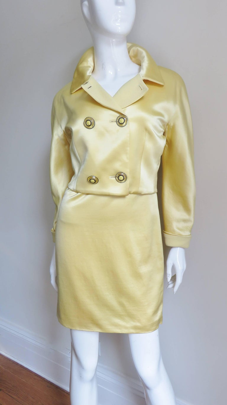 Gianni Versace Silk Dress and Jacket For Sale 4