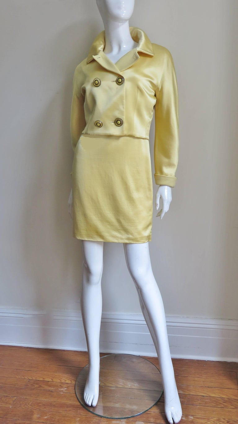 Gianni Versace Silk Dress and Jacket For Sale 6