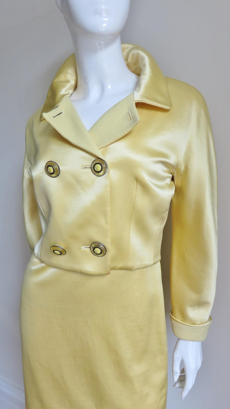 Women's Gianni Versace Silk Dress and Jacket For Sale