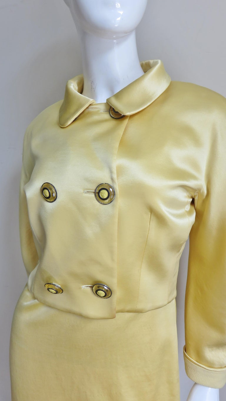 Gianni Versace Silk Dress and Jacket For Sale 1