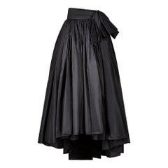 1980s Gina Fratini A-Line Taffeta Evening Skirt