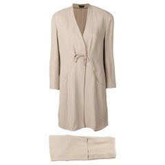 1980s Giorgio Armani Beige Trousers Suit