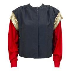 1980s Giorgio Armani Grey, Gold & Red Jacket