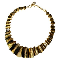 1980s Givenchy Couture Necklace with Gold Plate and Swarovski Crystals
