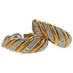 1980s Gold 6.00 Carat Diamond Earrings