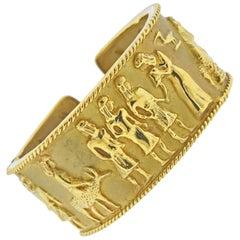 1980s Gold Cuff Bracelet