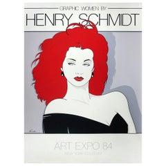 "1980s ""Graphic Women"" Serigraph by Henry Schmidt"