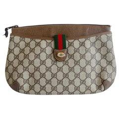"1980s Gucci Monogram ""Accessory Collection"" Clutch"