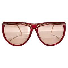 1980s Gucci Red Cat Eye sunglasses