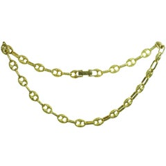 1980s Gucci Solid Yellow Gold Link Necklace