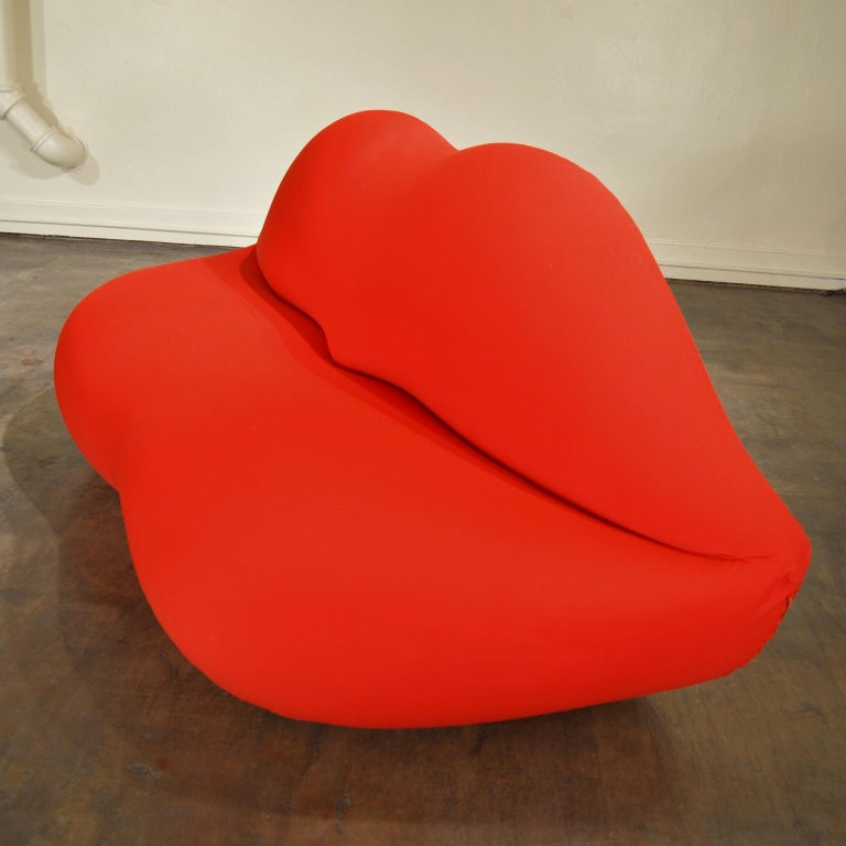 Gufram Vintage Bocca Lips Sofa by Studio 65  In Good Condition In Portland, ME