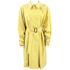 1980s Hermès yellow Raincoat
