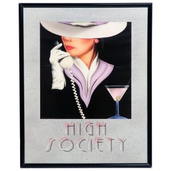 1980s High Society Lithograph Print by Mal Watson