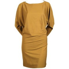 1980's ISSEY MIYAKE ribbed tunic dress with dolman sleeves