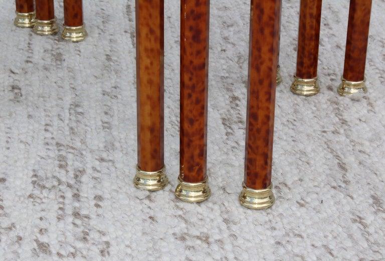 1980s Italian Brass Nesting Tables For Sale 4