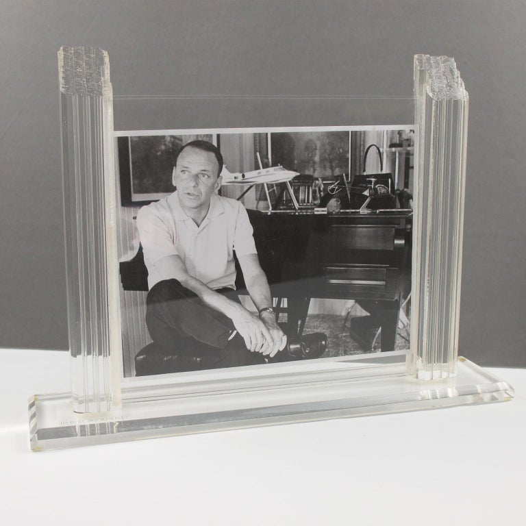 Modern 1980s Italian Lucite Picture Frame For Sale