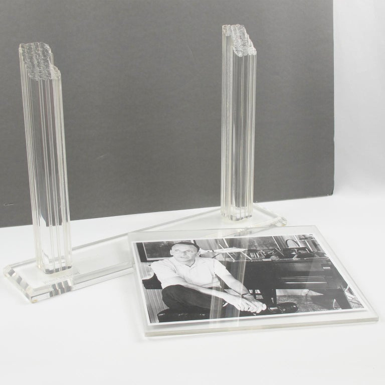 1980s Italian Lucite Picture Frame For Sale 1