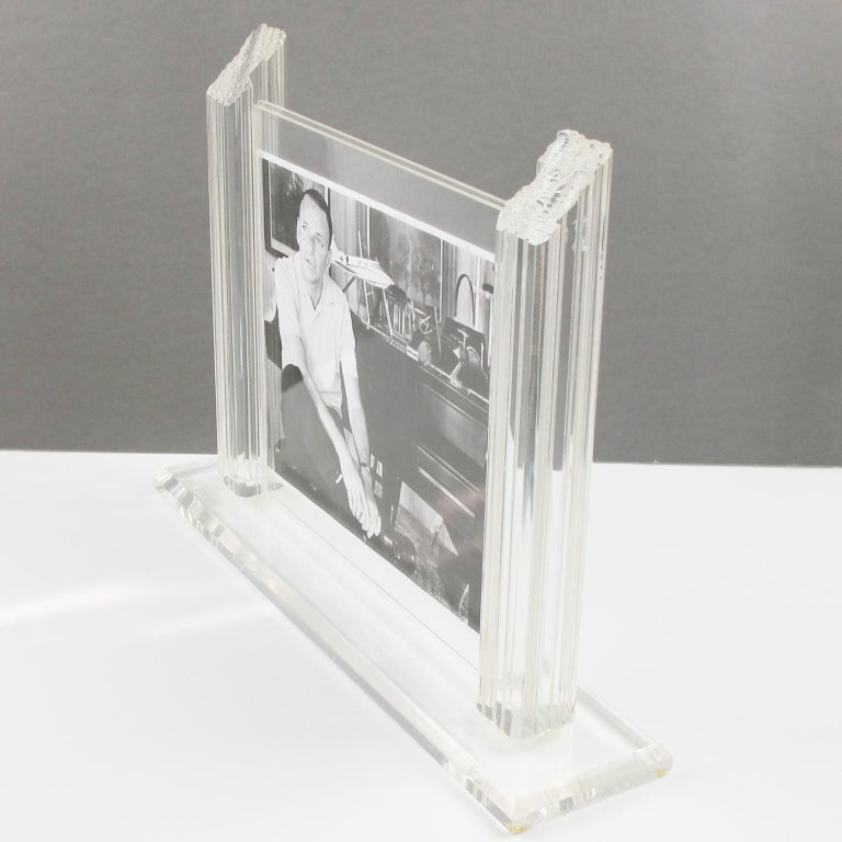 1980s Italian Lucite Picture Frame For Sale 2