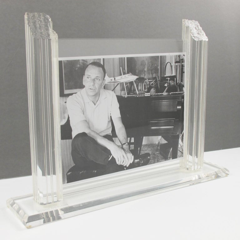 1980s Italian Lucite Picture Frame For Sale 3