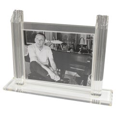 1980s Italian Lucite Large Picture Frame
