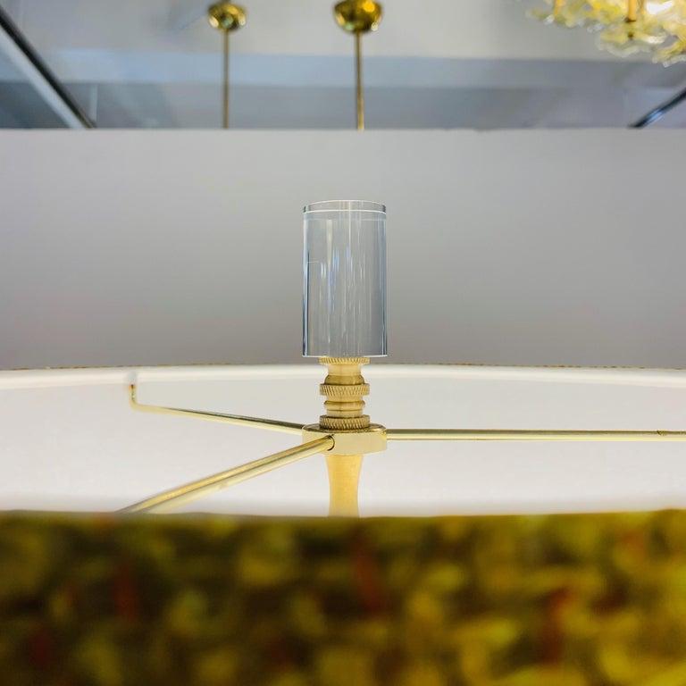 1980s Italian Memphis Inspired Orange Yellow Murano Glass Postmodern Lamp 1