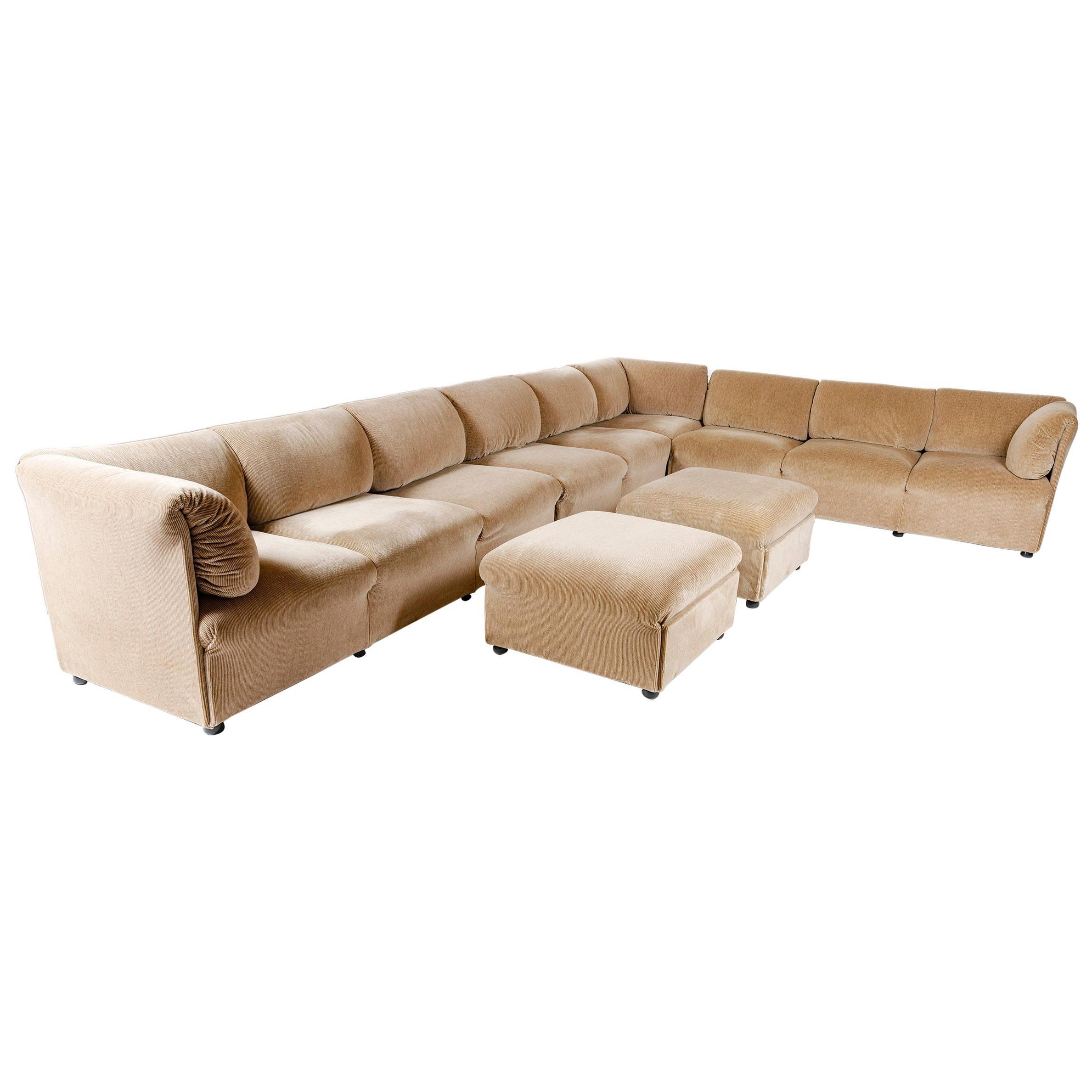 1980s Italian Modular Sofa by Cassina