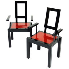 1980s Italian Postmodernist Memphis Style Chairs Set of x 4 Available