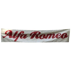 1980s Italian Vintage Five Meters Long PVC Alfa Romeo Advertising Banner