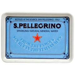 1980s Italian Vintage Plastic San Pellegrino Mineral Water Little Tray