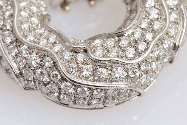 1980s Jahan Diamond Gold Ear Pendants For Sale 1